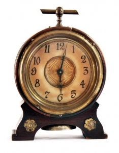 Reliable Antique French Inlaid Wood Bronze Dore Ormolu Clock And Thermometer 19th Century Price Remains Stable Clocks