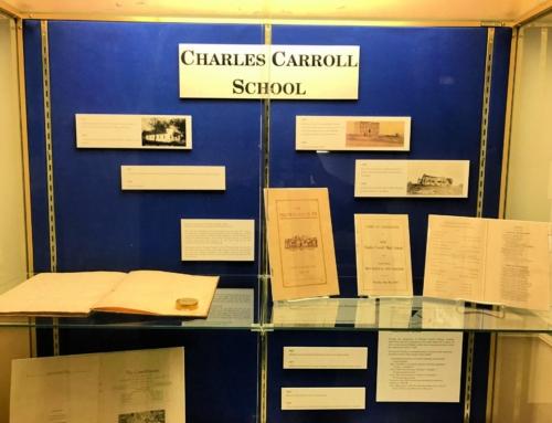 Charles Carroll School Artifacts On Display
