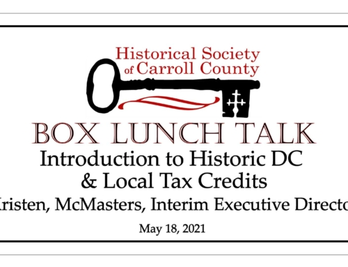 Box Lunch Talk: Introduction to West Historic DC & Local Tax Credits