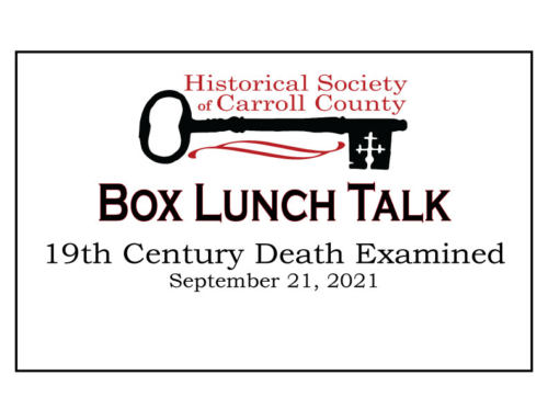 Box Lunch Talk:  19th Century Death Examined